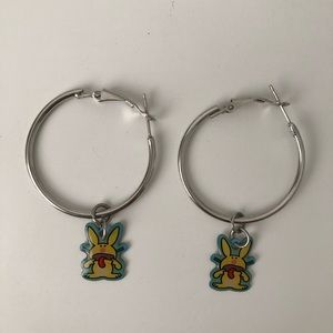 2000s Vintage Bunny Hoop Earrings